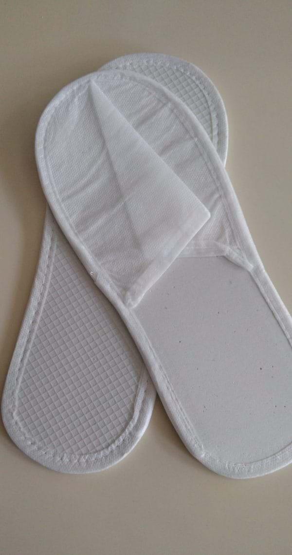 Lüx Tela Terlik – Tek Kullanımlık Terlik – Otel Terliği – Buklet Ürünleri